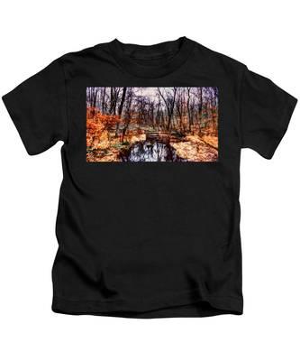 Creek At Pyramid Mountain Kids T-Shirt