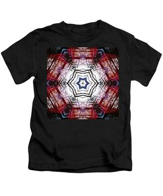Kids T-Shirt featuring the digital art Dawning Sun Flare by Derek Gedney