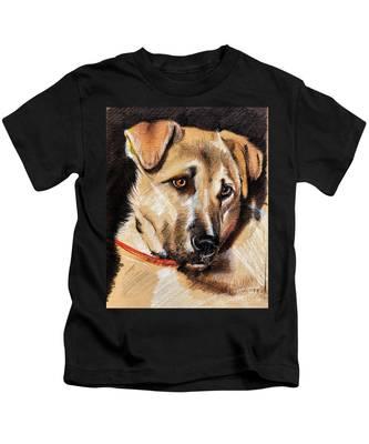 Dog Portrait Drawing Kids T-Shirt