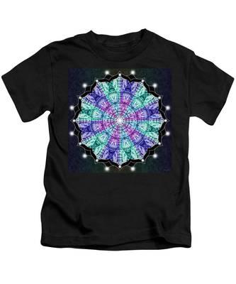 Kids T-Shirt featuring the digital art Earthscape Winter by Derek Gedney