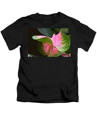 Flamingo Flower Kids T-Shirt