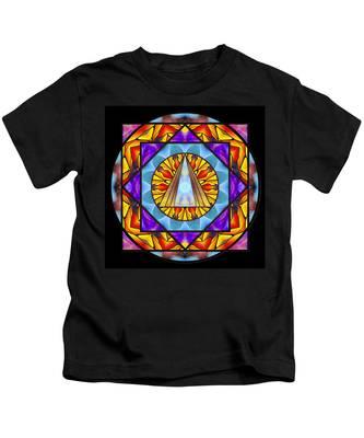 Kids T-Shirt featuring the drawing Fluid Transformation by Derek Gedney
