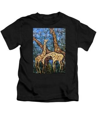 Giraffe Family Kids T-Shirt