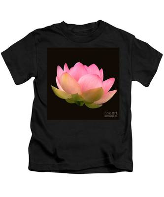 Glowing Lotus Square Frame Kids T-Shirt