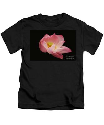 Indian Lotus On Black --- Sacred Light Kids T-Shirt