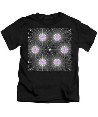 Kids T-Shirt featuring the digital art Infinity Grid Six by Derek Gedney