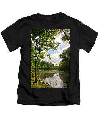 July Fourth Duck Pond With Goose Kids T-Shirt