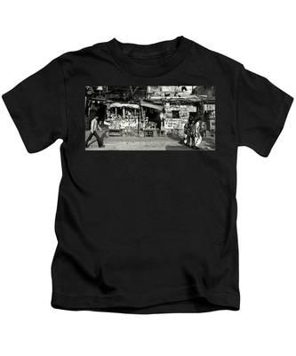 Man Woman And Schoolgirls Kids T-Shirt