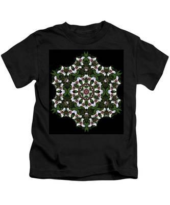 Mandala Trillium Holiday Kids T-Shirt