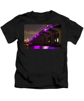 Miami Macarthur Causeway Bridge Kids T-Shirt