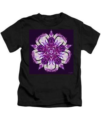 Kids T-Shirt featuring the digital art Nature's Mandala 22 by Derek Gedney