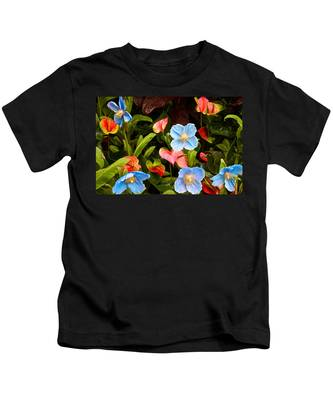 New World And Old World Exotic Flowers Kids T-Shirt