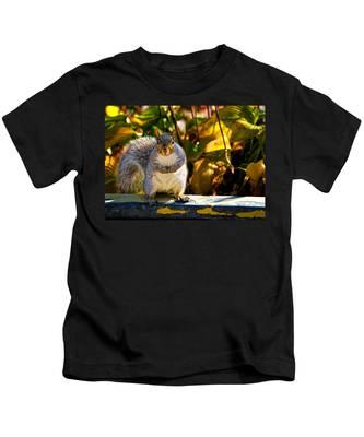 One Gray Squirrel Kids T-Shirt