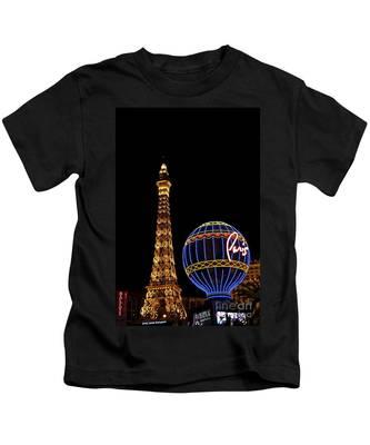 Paris In Vegas Kids T-Shirt by Bridgette Gomes