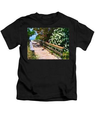 Pathway To Beach Kids T-Shirt