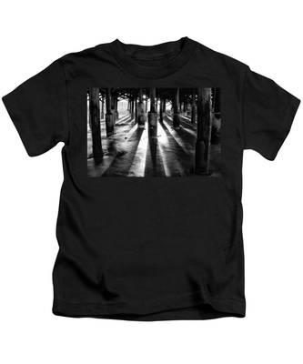 Pier Shadows Kids T-Shirt
