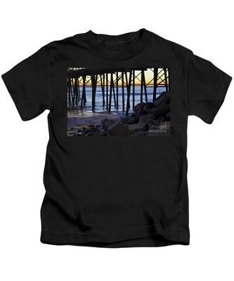 Kids T-Shirt featuring the photograph Pier Through  by Bridgette Gomes