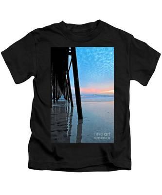 Pier Under Kids T-Shirt by Bridgette Gomes