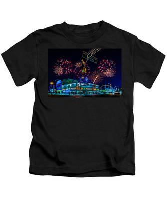 Saturday Night At Coney Island Kids T-Shirt