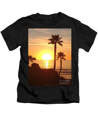 Kids T-Shirt featuring the photograph Solana Sunset by Bridgette Gomes