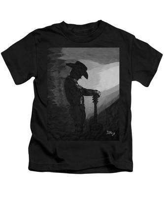 Spirit Of A Cowboy Kids T-Shirt