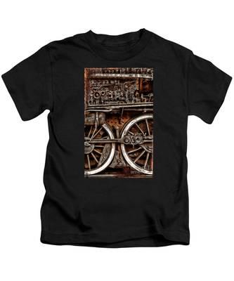 Steampunk- Wheels Locomotive Kids T-Shirt