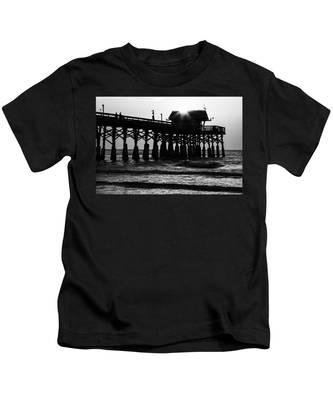 Sunrise Over Pier Kids T-Shirt