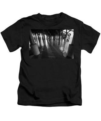Sunrise Under Pier Kids T-Shirt