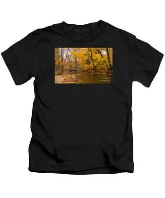 The Little Bridge Over Valley Creek Kids T-Shirt