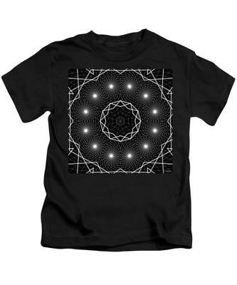 Kids T-Shirt featuring the digital art The Web Of Life by Derek Gedney
