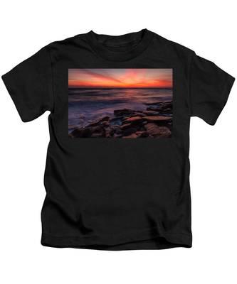 Washington Oaks Winter Sunrise Kids T-Shirt