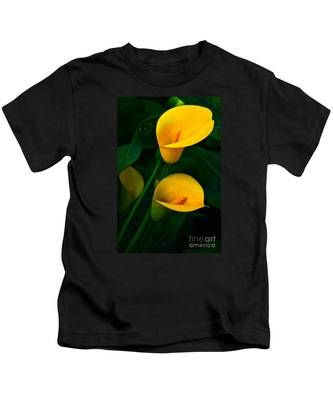 Yellow Calla Lilies Kids T-Shirt