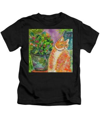 Ginger With Flowers Kids T-Shirt