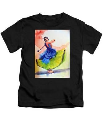 Kathak Dancer Kids T-Shirt