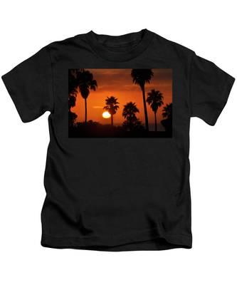 Kids T-Shirt featuring the photograph La Jolla Sunset by Bridgette Gomes