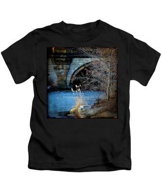 A Frozen Corner In Central Park Kids T-Shirt