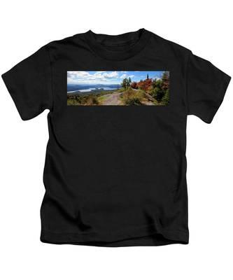 Bald Mountain Autumn Panorama Kids T-Shirt