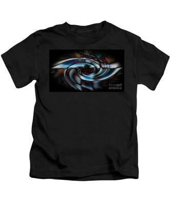 Black And Blue Kids T-Shirt