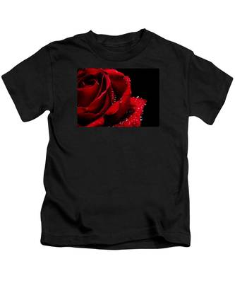 Blood Red Rose Kids T-Shirt