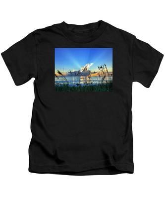 Blue Glow Kids T-Shirt