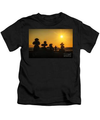Boulders By The Sea Kids T-Shirt