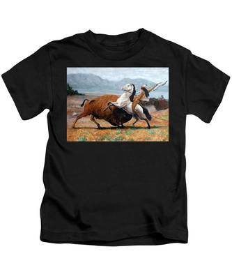 Buffalo Hunt Kids T-Shirt