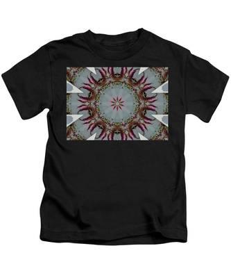 Butterfly Bush Kaleidoscope Kids T-Shirt