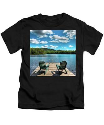 Calm In The Adirondacks Kids T-Shirt