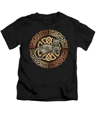 Celtic Cat Kids T-Shirt