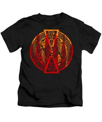 Celtic Dragons Fire Kids T-Shirt