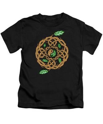Celtic Nature Yin Yang Kids T-Shirt