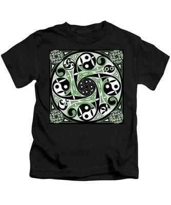 Celtic Spiral Stepping Stone Kids T-Shirt