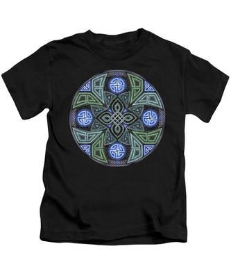 Celtic Ufo Mandala Kids T-Shirt