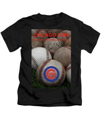 Chicago Cubs World Series Poster Kids T-Shirt